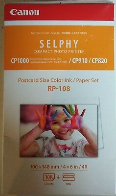 """Canon RP-108 Color Ink / Paper Set - 4x6"""" 108 Sheets for Selphy CP Printers"""