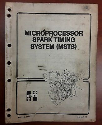 Hyster Microprocessor Spark Timing System (MSTS) 897412 Manual 2200 SRM 463
