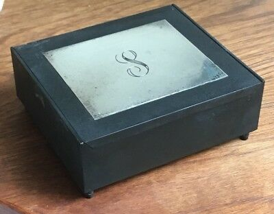 Vintage Mid Century TOWLE Sterling Silver CIGARETTE JEWELRY BOX 1964 MCM 4x3.5""