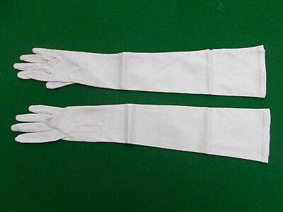 Vintage long french stretch satin gloves by 'Neyret' Paris size 6 1/2
