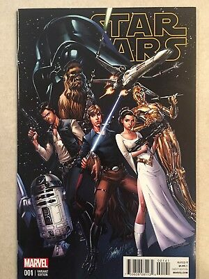 Star Wars #1 Campbell Variant Marvel Comics Han Solo Luke Skywalker