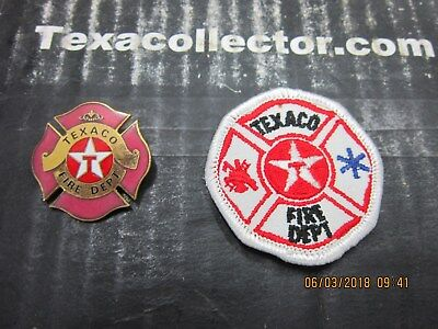 Texaco Fire Department Patch & Pin Lot 842