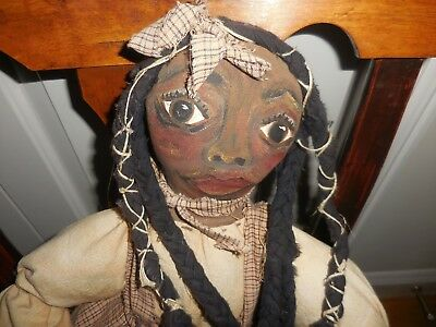 Primitive Black Folk Art Doll