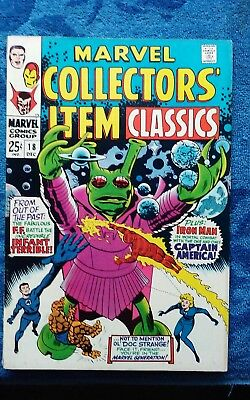Vintage Silver Age Marvel Collector's Item Classic Issue 18 Lot Of 1