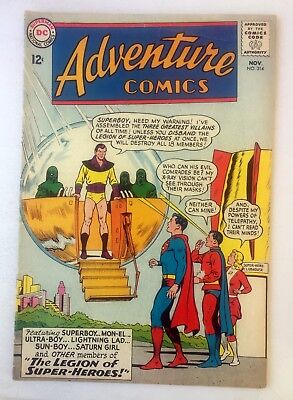 ADVENTURE COMICS #314 ~ 1963 DC Comics - Superboy and the Legion of Super-heroes