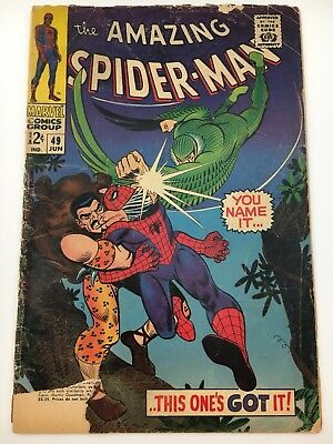 AMAZING SPIDER-MAN #49 Marvel Silver Age Comic Kraven Vulture VG+
