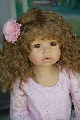 Masterpiece Dolls Cassi Light Brunette Wig, Fits Up To a 18-inch Head