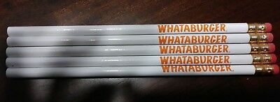 Lot of 5 brand new WHATABURGER PENCILS all unsharpened