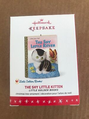 Hallmark 2016 Christmas Ornament Little Golden Books The Shy Little Kitten