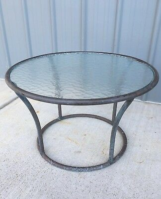 Mid Century Modern Walter Lamb Bronze Glass Top Table