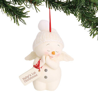 Dept 56 Snowpinions 2018 Baby's First Christmas Ornament #6000919 NEW FREE SHIP