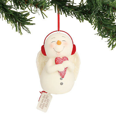 Dept 56 Snowpinions 2018 You Are The Smile On My Heart Ornament #6000915 NEW