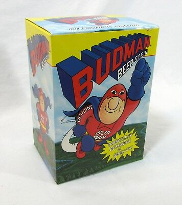 1989 BUD MAN Beer Stein Budweiser Collectors Edition NEW in box 16 oz Ceramic