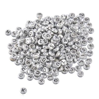 500Mixed Alphabet/Letter Acrylic Spacer Bead 7mm B09882 T3B9