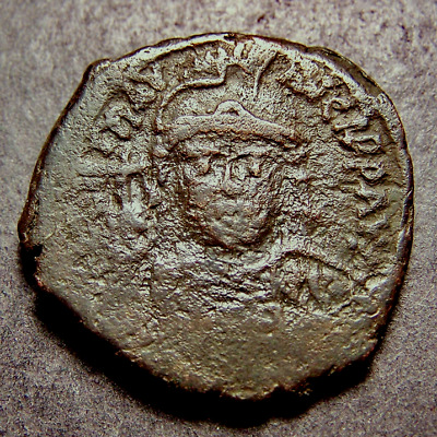 """MAURICE TIBERIUS, Christian Crosses, Constantinople, Byzantine Emperor """"M"""" Coin"""