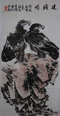 Rare Large Chinese Painting Signed Master Li Kuchan No Reserve Unframed J1591