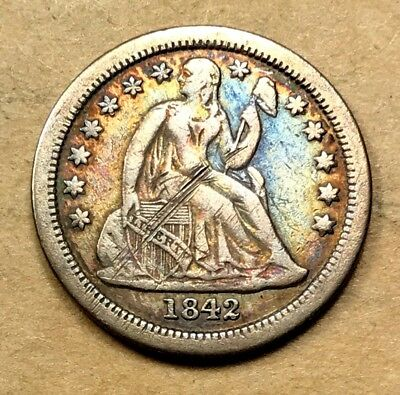 1842-O Seated Liberty Dime  VF/XF Details