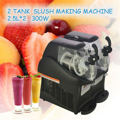 300W 2.5L*2 Hot Mini Margarita Slush Frozen Drink Machine