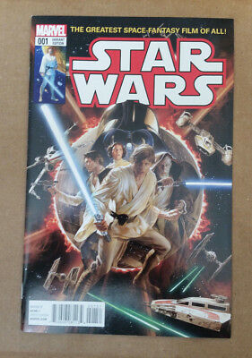 Star Wars #1 1st Print 1:50 Alex Ross 1977 #1 Homage Poster Variant 9.4