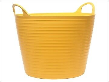 Faithfull Heavy-Duty Polyethylene Flex Tub 42 Litres Yellow FAIFLEX42Y