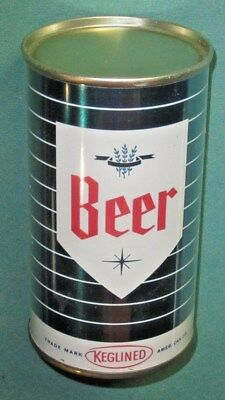 BEER--  12oz Keglined Promotional can by American Can-Aluminum lid, steel bottom