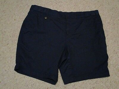 "WOMEN'S ""AVENUE"" BRAND  SHORTS NAVY ZIP FRONT w/BUTTON SIZE 20  SIDE POCKETS EUC"
