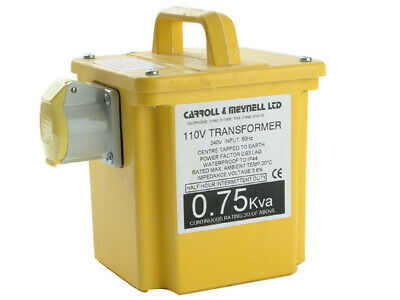 Carroll & Meynell 750/1 Transformer Single Outlet Rating 750va Continuous 375va