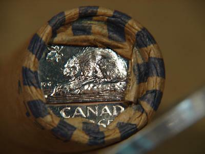1965 Canada 5 Cents Proof Like Roll Of 40 Coins