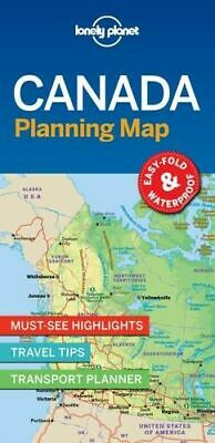 NEW Canada Planning Map By Lonely Planet Travel Guide Folded Sheet Map