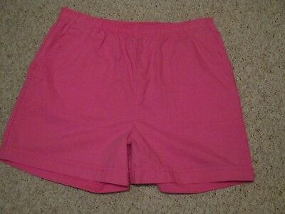 "Women's ""separate Issue"" Pair Of Pink Shorts Size 18/32 2 Pockets Cuff Hem Euc!"