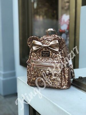 Disney Parks Exclusive Minnie Mouse Rose Gold Loungefly Back Pack SOLD-OUT