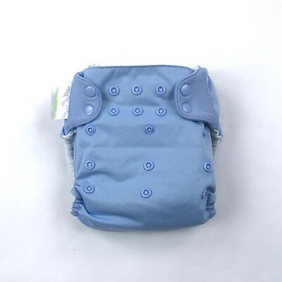 BumGenius One-Size Snap Tabs Cloth Pocket Diaper Light Blue 2 Inserts