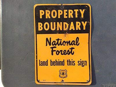 Forest Service metal sign