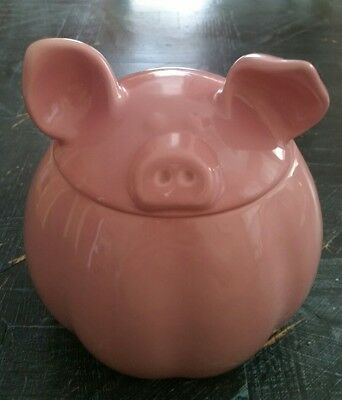 Home Essentials And Beyond Barnyard Canister Collection Pink Pig Mint Condition