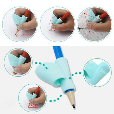 3pcs Kids Silicone Children Pencil Holder Grip Hold Pen Posture Correction Tool