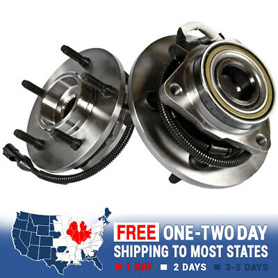 2 Front Wheel And Hub Bearing Assembly For Expedition Navigator 4X4 4WD M12 ABS