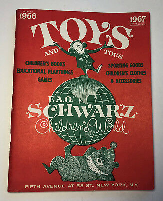 Fao Schwarz Christmas Toy Catalog 1966