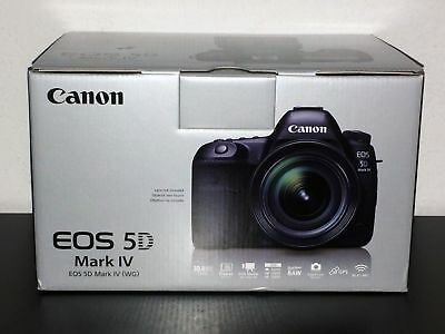 NEW Canon EOS 5D Mark IV 30.4MP Digital SLR Camera - Black (Body Only)