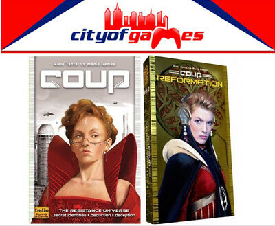 Coup & Coup Reformation Expansion Card Game Bundle Brand New