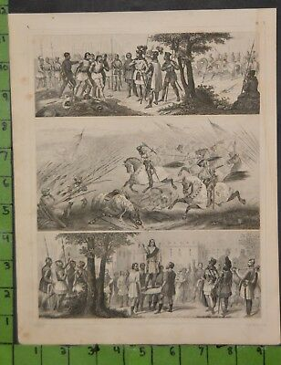 Medieval War 1849 Bilder Atlas Engraving -  12x9 Inches
