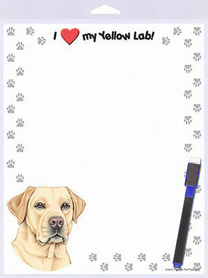 Yellow Lab 8 x 10  Magnetic Dry Erase Dog Memo Board Notepad Refrigerator Magnet