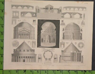 Ancient History Rome Roman Architecture 1849 Bilder Atlas Engraving -  12x9