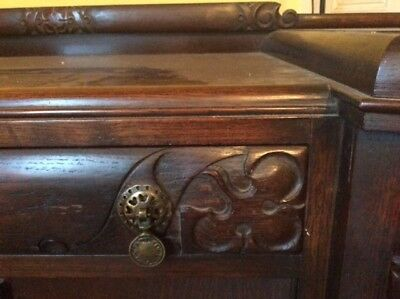 Sideboard - Carved, solid wood