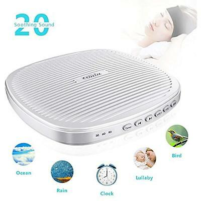 White Noise Machine, Portable Sleep Therapy Sound With Timer 2DAY SHIP