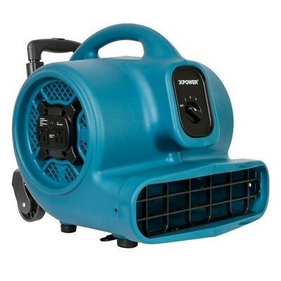 Blower Fan Air Mover 1 HP 3 Speed High Velocity Carpet Floor Dryer Handle Blue