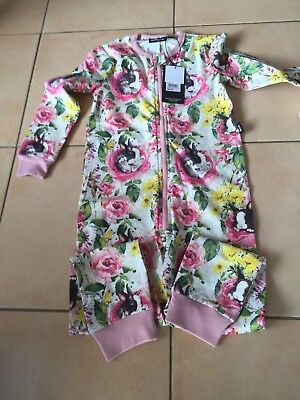 Rock Your Baby New Season Flower Bunny All In One    Sz 4  Bnwt Rrp $49,95