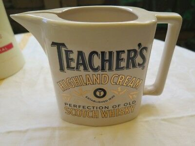 whiskey jug Teachers Whisky water Ceramic Single malt bar collectible