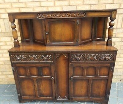 Beautiful highly carved chiffoneir cabinet / shabby chic side board