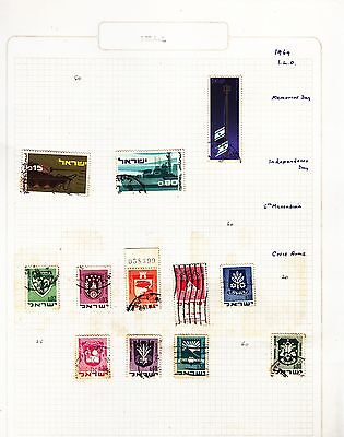 ISRAEL  on album page stamps removed for shipping(b)
