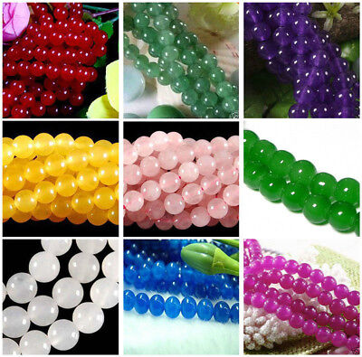 "Lots Natural gemstone spacer loose beads 4mm 6mm 8mm 10mm round stone15""JL0644"